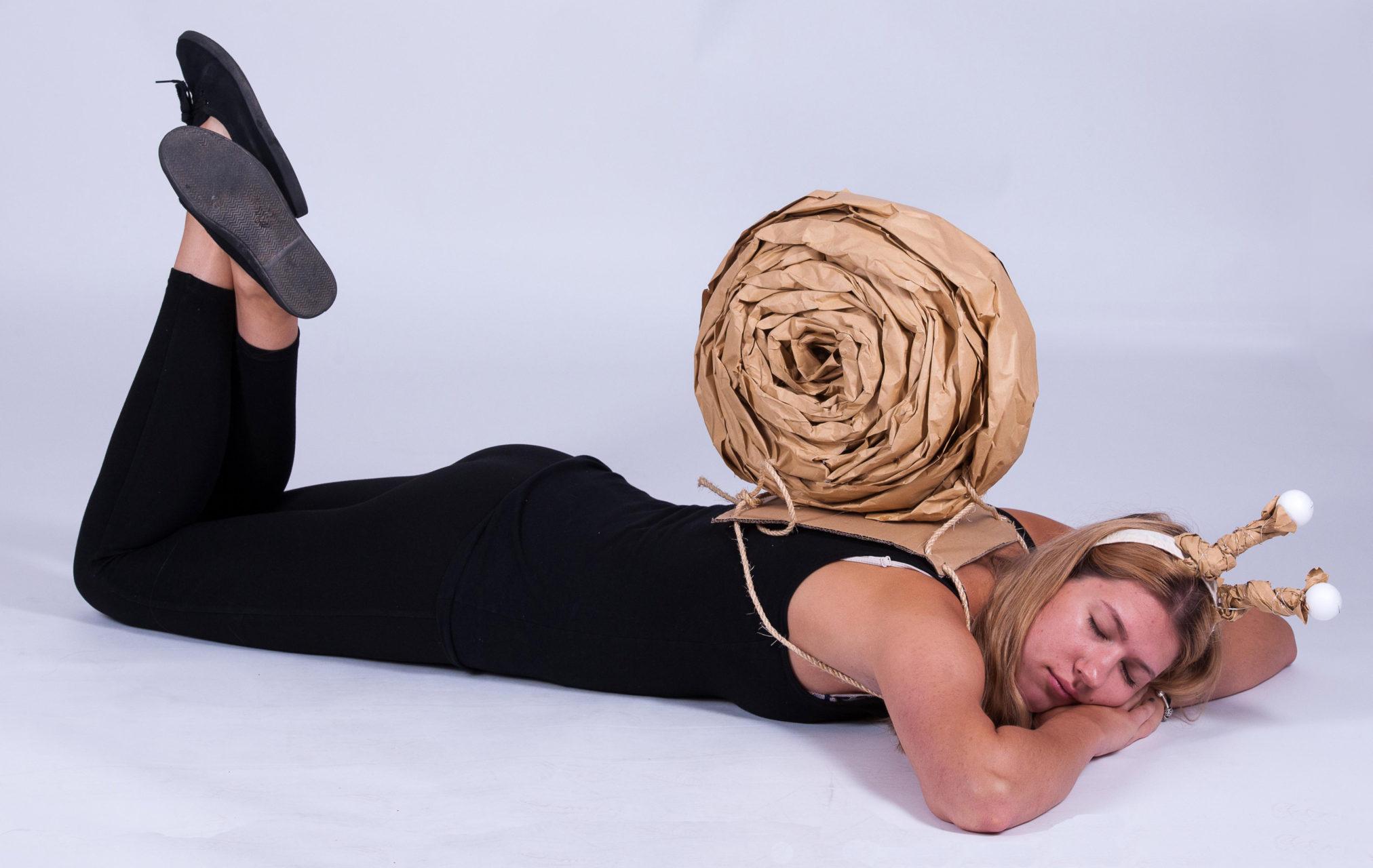 Kristin als Schnecke